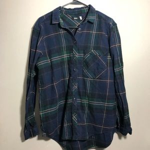 BDG urban outfitters plaid flannel tunic